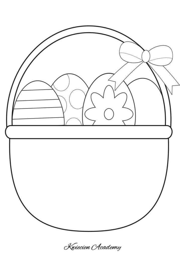 koszyk wielkanocny rysunki