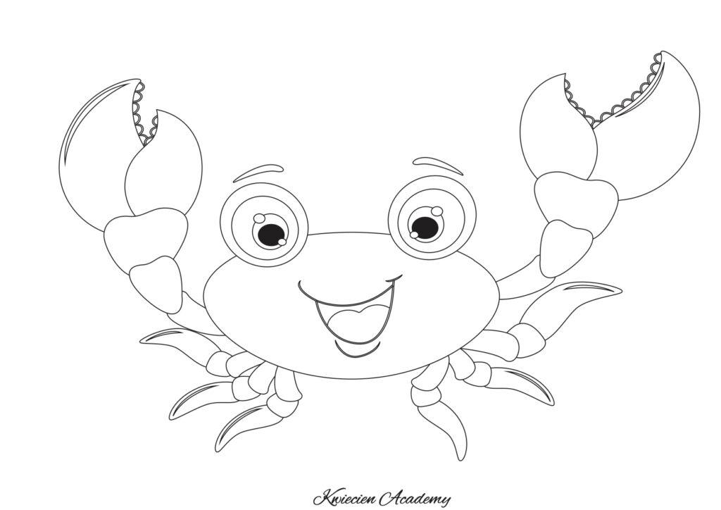 krab kolorowanka