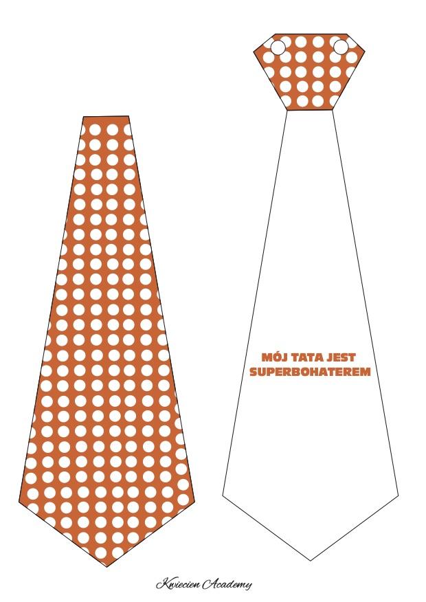 krawat pomaranczowy