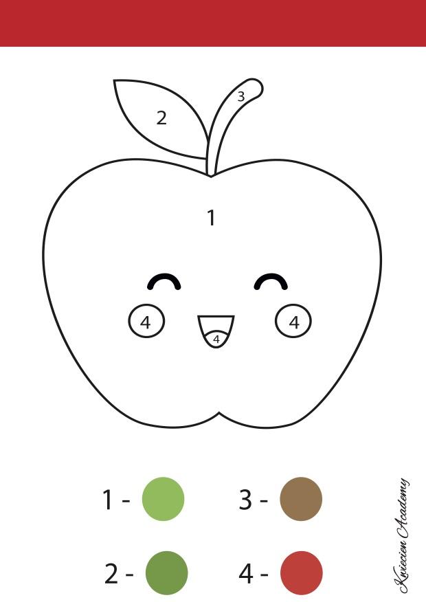 Jabłuszka kolorowanka