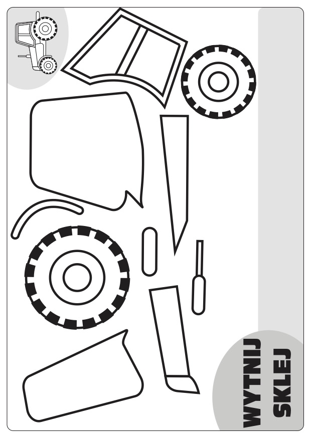traktor wytnij skelj