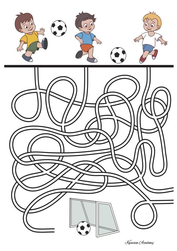 Piłka nożna karty pracy