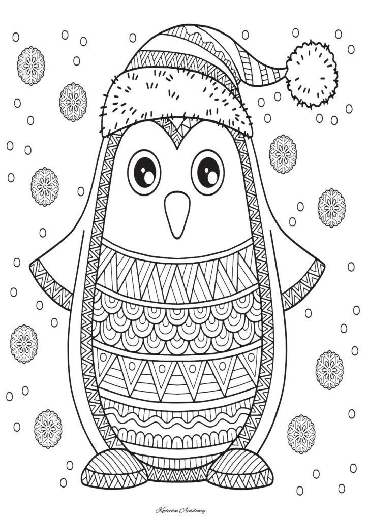 pingwin kolorowanka