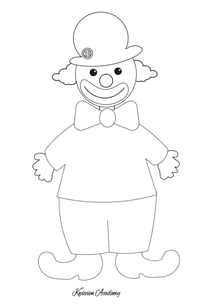 kolorowanka klaun