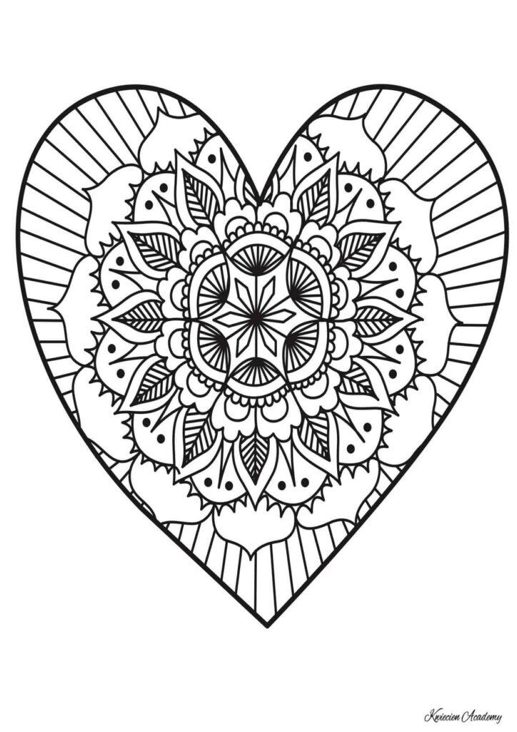 serce kolorowanie