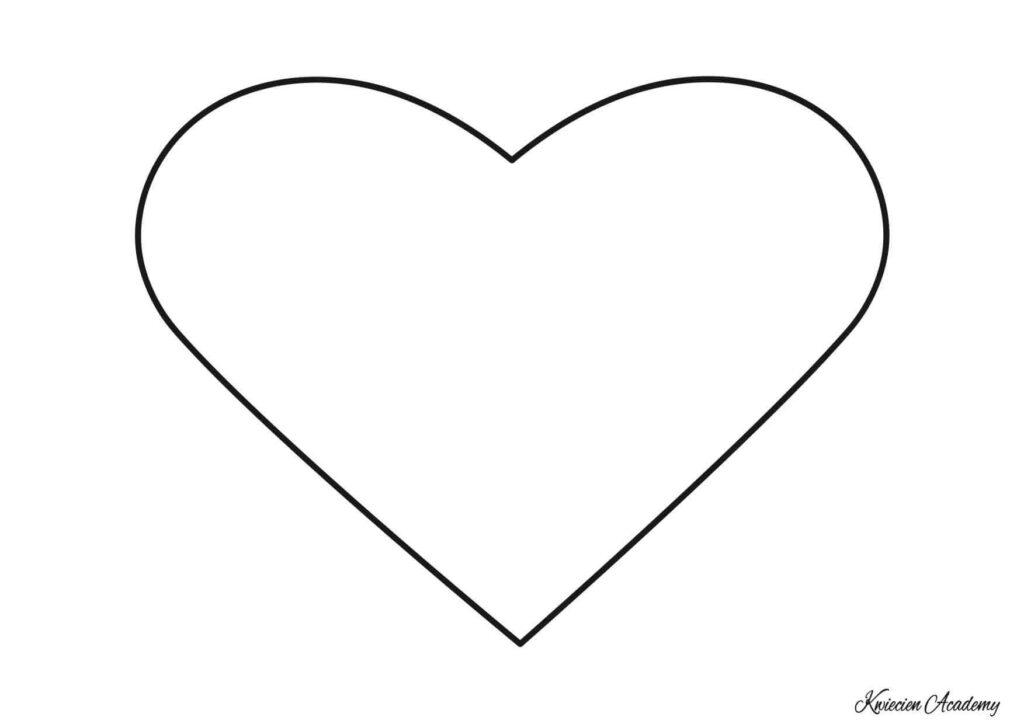 serce kolorowanka do druku