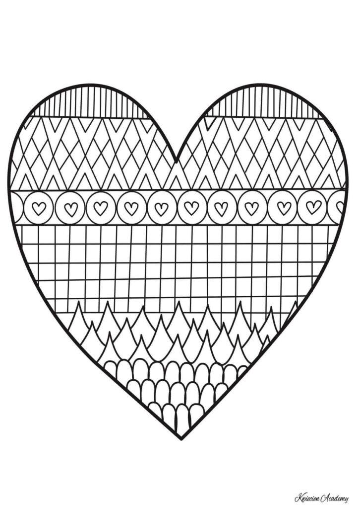 serce kolorowanki