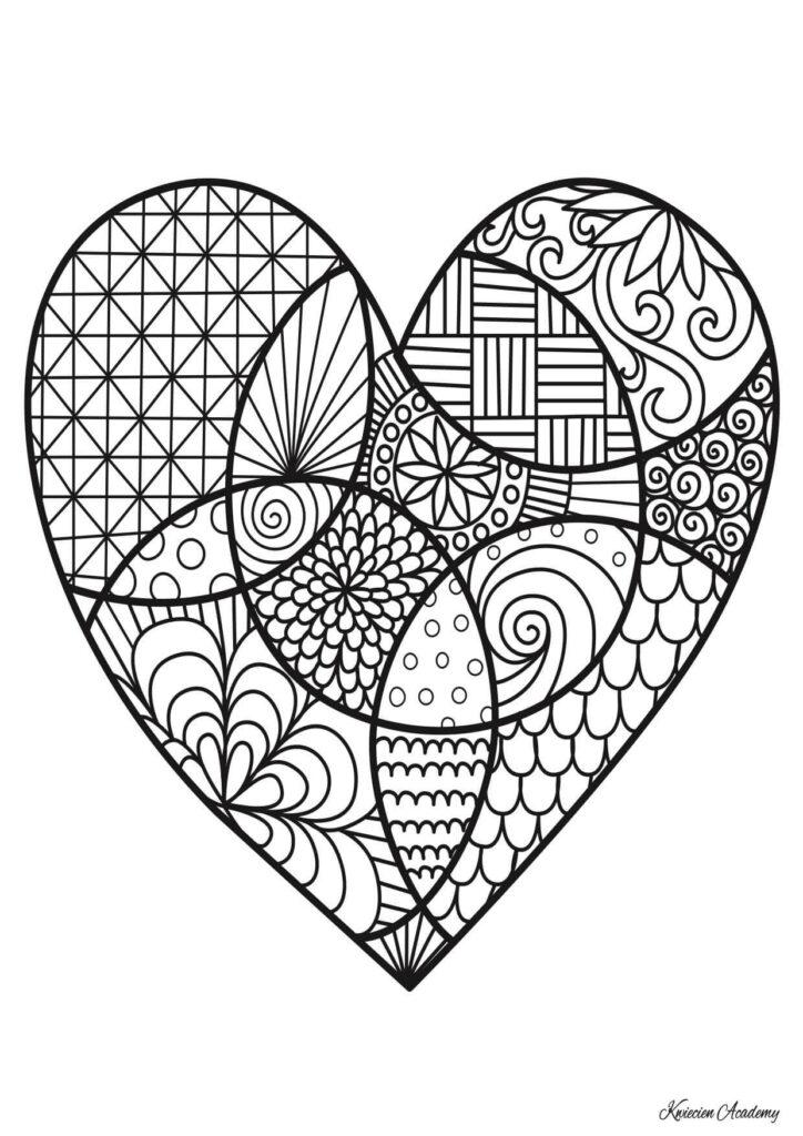 serce kolorowanka