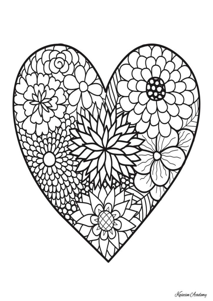 kolorowanki serce