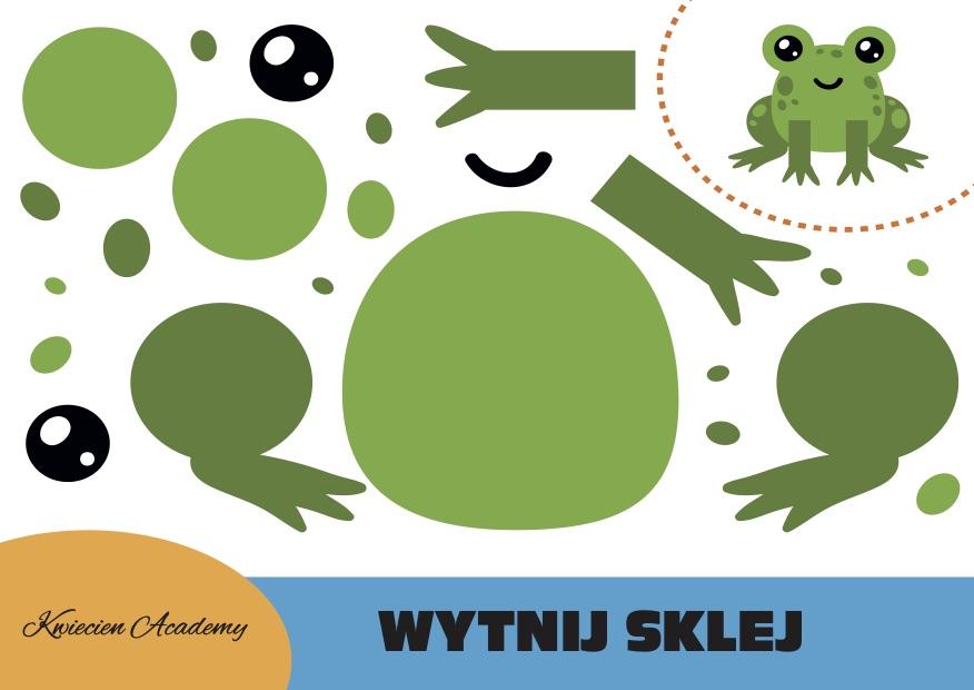 żaba wycinanki