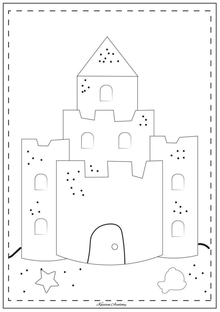 zamek kolorowanka
