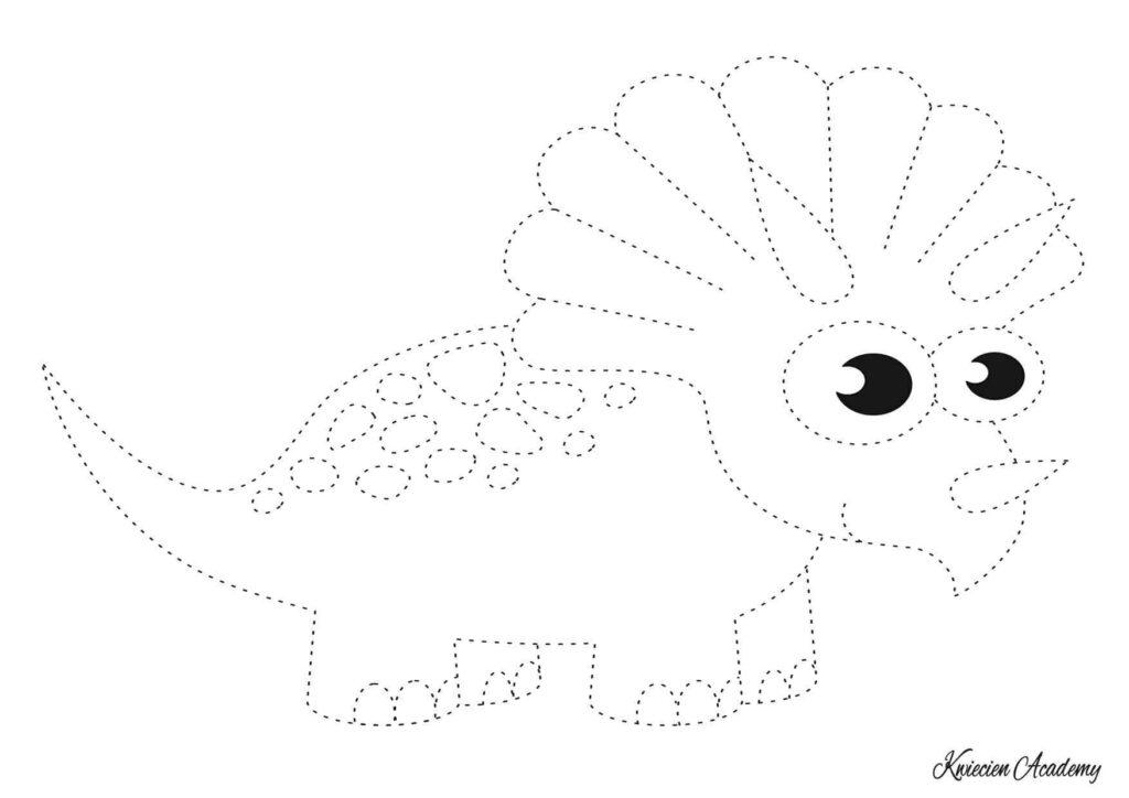 Grafomotoryka dinozaury