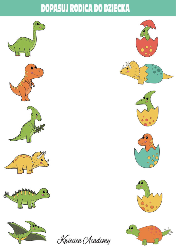 dopasuj pary dinozaury