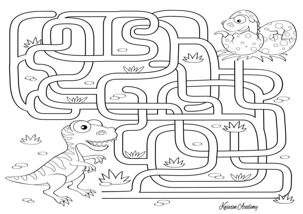 labirynt z dinozaurami
