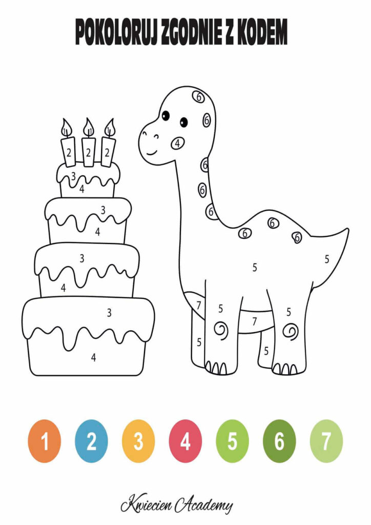 Dinozaury karty pracy