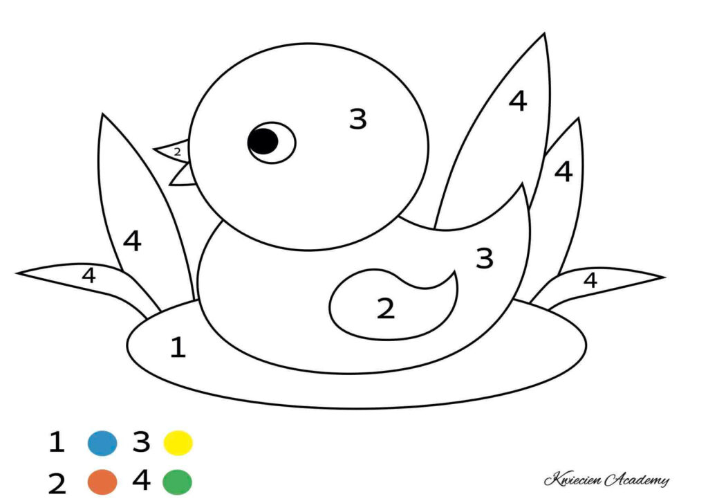 kaczuszka kolorowanka