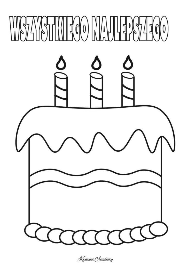 Urodzinowe kolorowanki