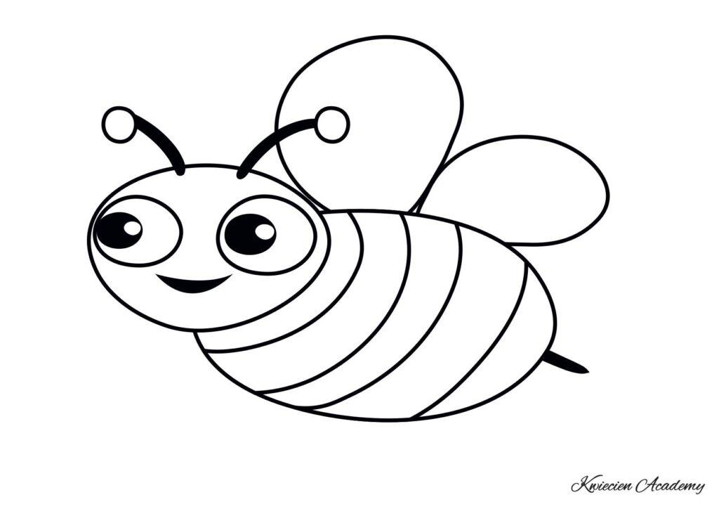 pszczółka kolorowanka