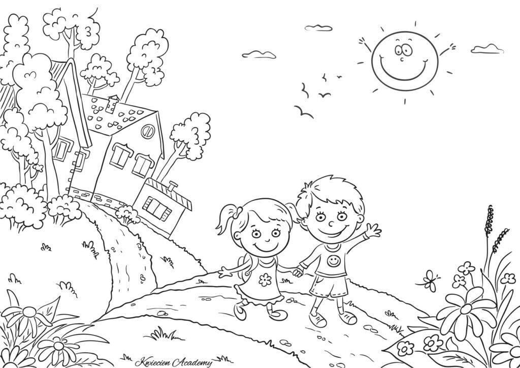 dzieci kolorowanka