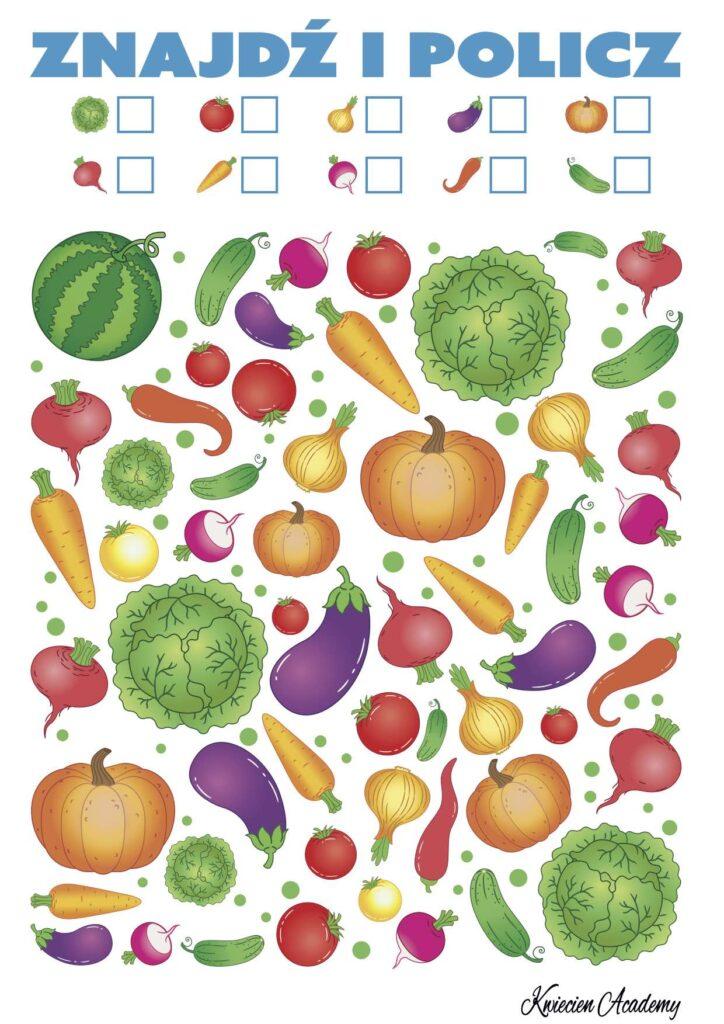 zabawy z warzywami
