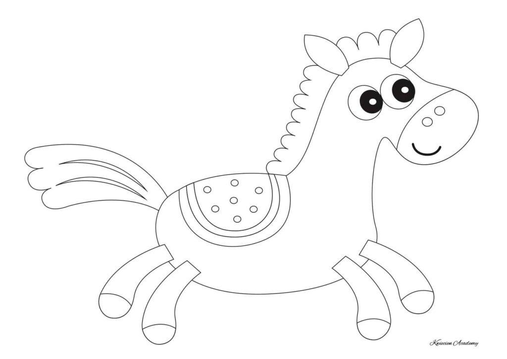 Koń darmowe kolorowanki
