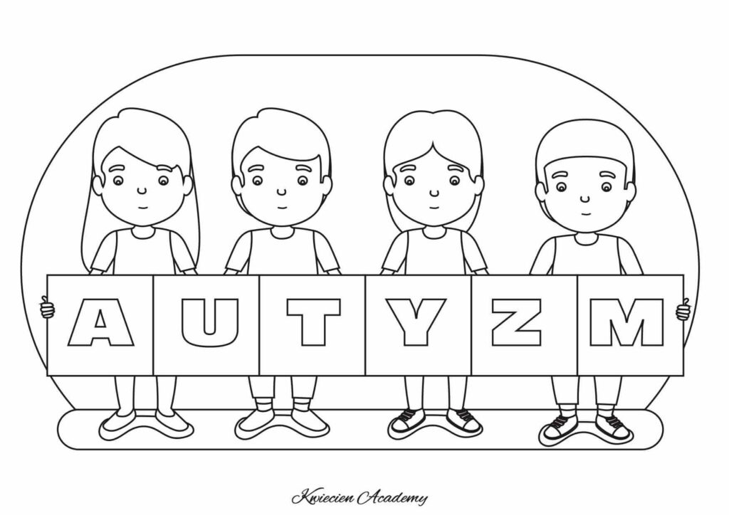 Autyzm kolorowanka