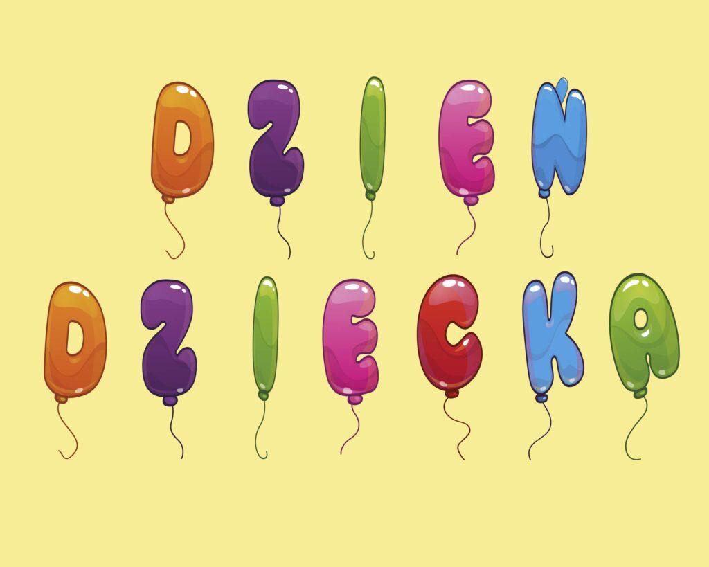 Dzień dziecka - napis do druku (girlanda)