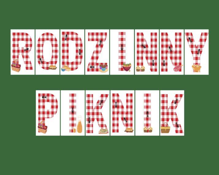 Rodzinny piknik - napis do druku