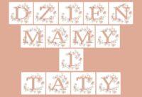 Dzień Mamy i Taty - napis do druku