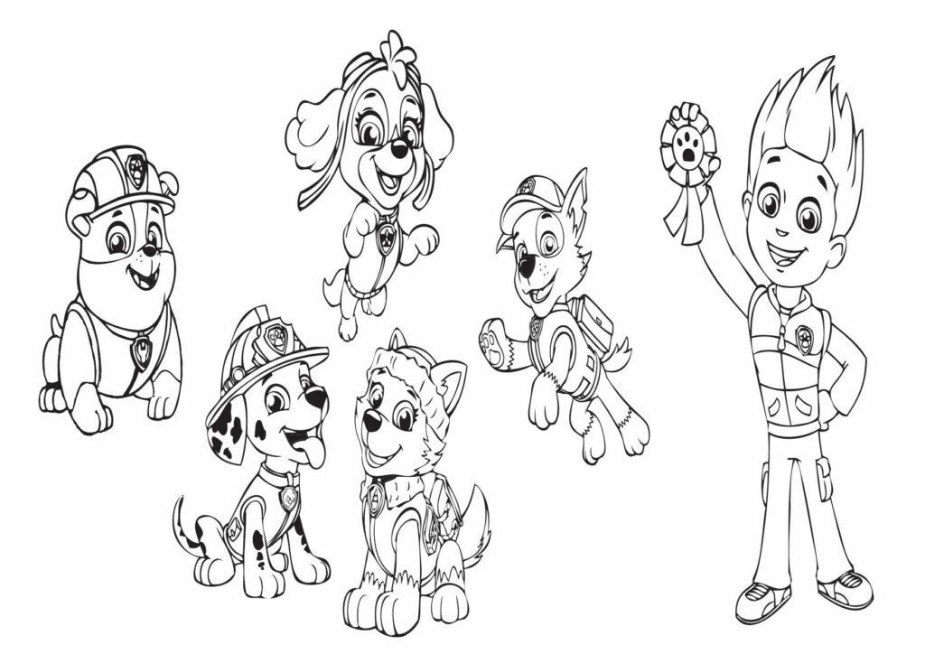 Psi patrol kolorowanki