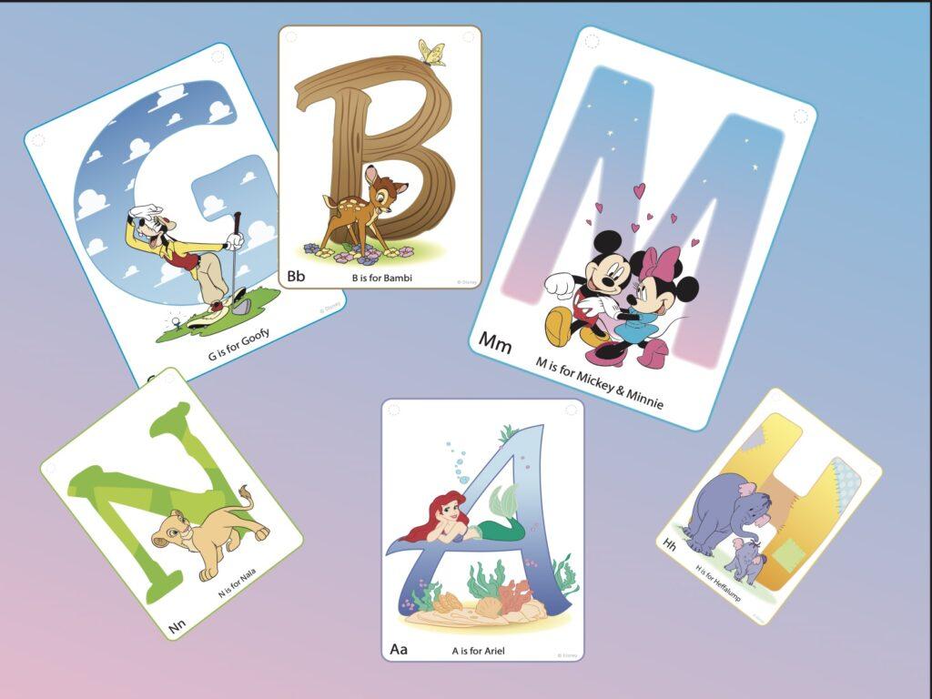 Darmowy alfabet postaci Disneya